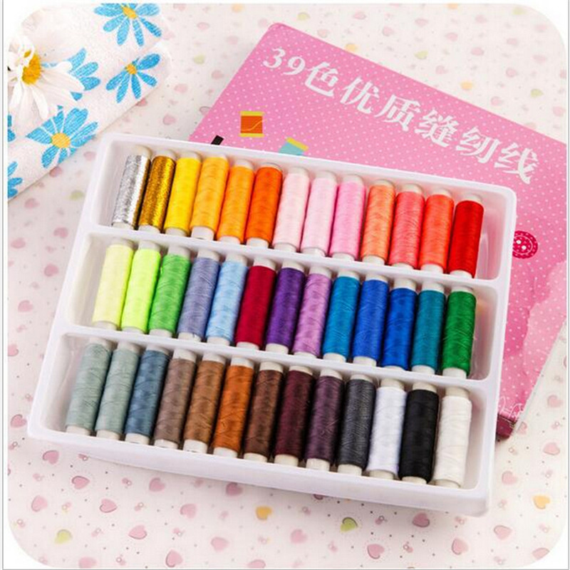 39 color sewing box set sewing machine line with thick line/hand stitching/household sewing thread package mail/wiring