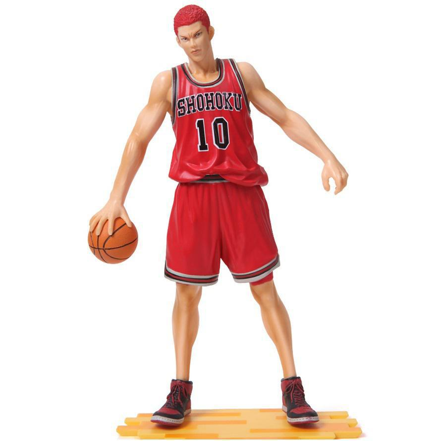 Free Shipping Japanese Anime Slam Dunk  hanamichi sakuragi 26cm PVC Action Figures Dolls Model Boys Toys Doll Kids gift one piece figure japanese one piece nico robin pvc 17cm action figures kids toys japanese anime figurine doll free shipping