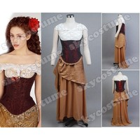 The Phantom of the Opera Christine Dress Gown Halloween Cosplay Costume For Adult Women
