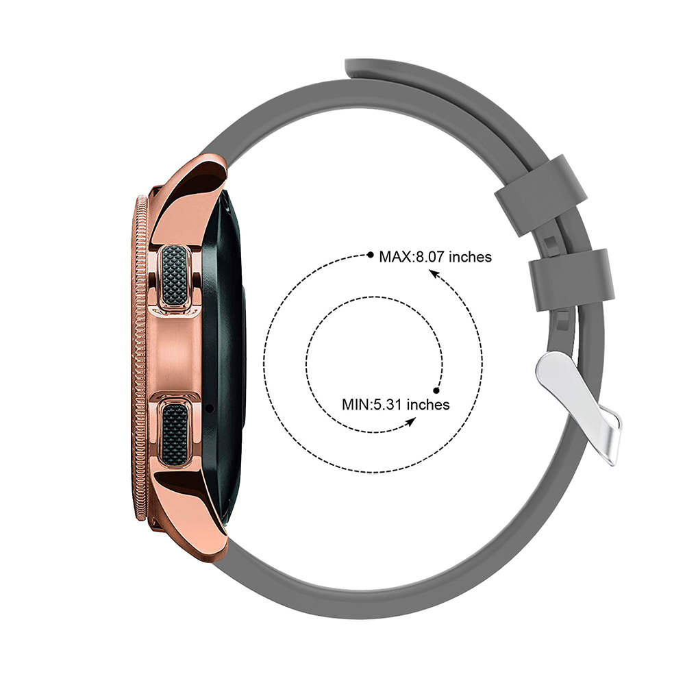20mm Watch Strap Band Silicone For Samsung Gear sport S2 S4 Galaxy Watch 42mm for huami amazfit bip Strap for Huawei Watche 2 in Watchbands from Watches