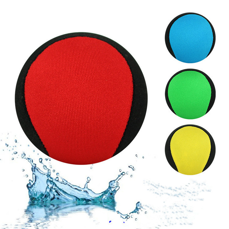 Skips On Water Game Water Bouncing Ball TPR Cloth Beach Ball Swimming Water Playing Water Wave Ball Toy Stress Relief Ball