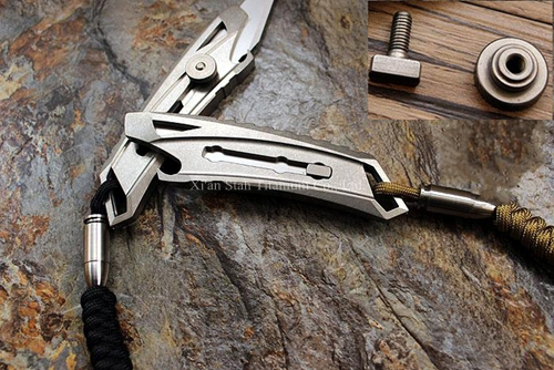 Titanium TC4 Sliding Blade Cutter Art font b Knife b font Numerical Control cutting 123mm Long