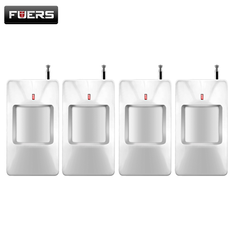 Fuers 433Mhz Wireless Infrared Detector PIR Alarm Sensor GSM/PSTN Security Alarm Sensors Motion Detector For Home Alarm System fuers wifi gsm sms home alarm system security alarm new wireless pet friendly pir motion detector waterproof strobe siren