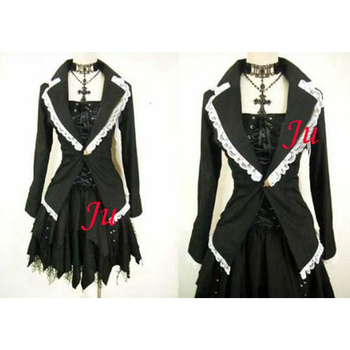 Gothic Lolita Punk Fashion Jacket Dress Cosplay Costume Tailor-made[CK320]