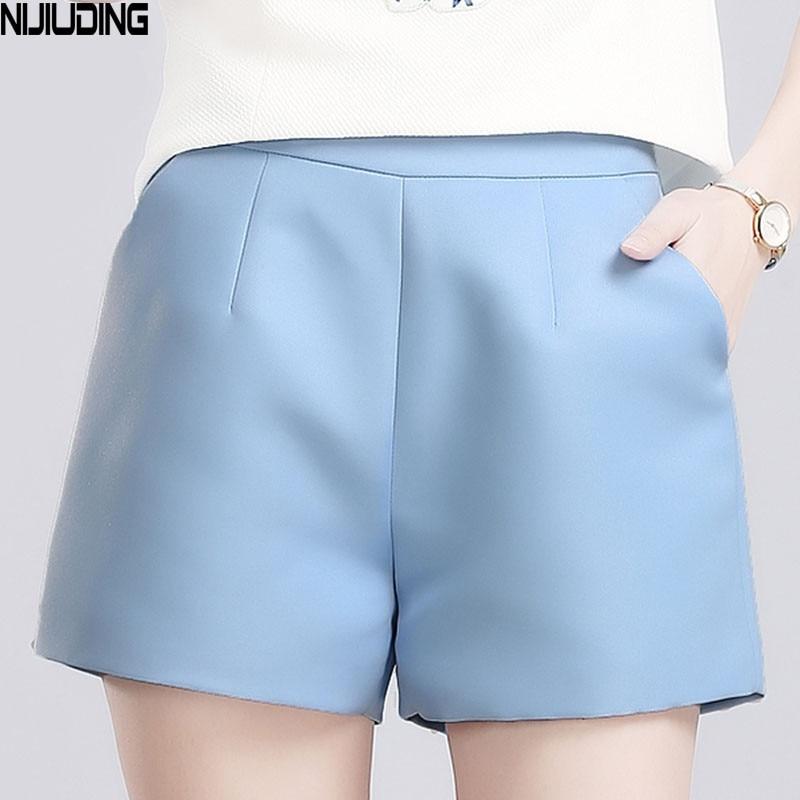 NIJIUDING 2017 New women summer hot shorts spring Slim A word wide leg shorts Loose Cotton