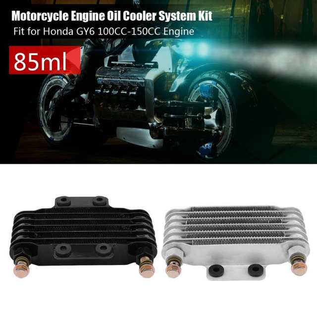 US $57 42 24% OFF|85ml Oil Cooler Engine Oil Cooling Radiator System Kit  for Honda GY6 100CC 150CC Engine Motorcycle Oil Cooler motor Accessories-in