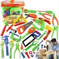32 unids Bebé Educativos Herramienta Kit de Los Niños Jugar a las Casitas de Juguete Clásico juguete De Plástico Niños Herramientas Martillo Caja de Herramientas Kit de Herramientas de Simulación juguetes