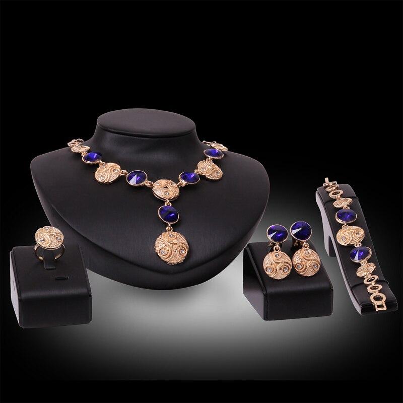 b0588aaa9 2017 Fashion Women Jewelry Sets Necklace Earrings Bracelet Ring Wedding  Jewelry bridal Sets parure bijoux femme
