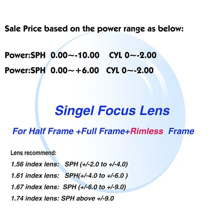 MR-8 Hochwertige Individuelle Randlose Brille Optische Linsen 1,61 ...