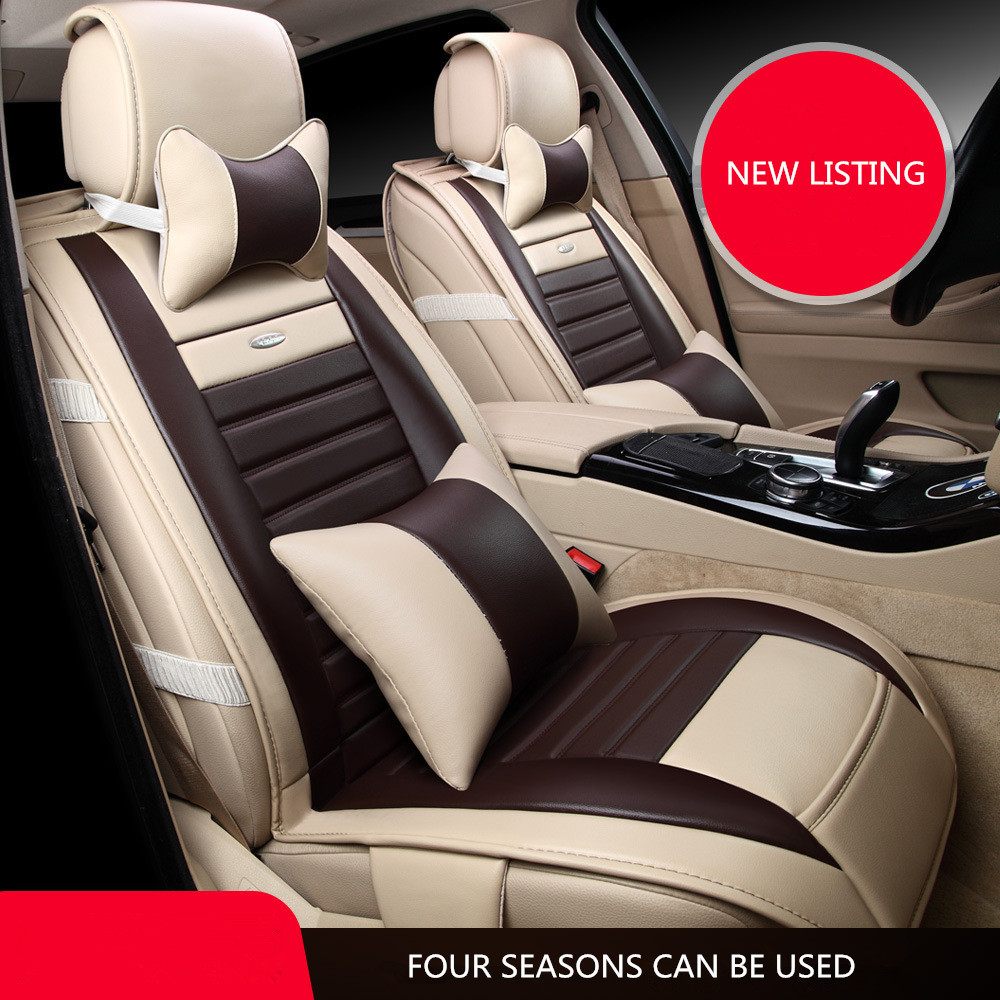 Universal artificial leather car seat cover for 5 seats cars hatchback chevrolet cruze ford focus honda man0030 free shipping in automobiles seat covers