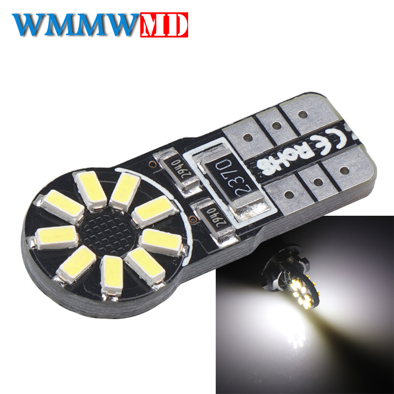 2pcs T10 W5w Led Car Light Bulbs White 6000k 158 147 161