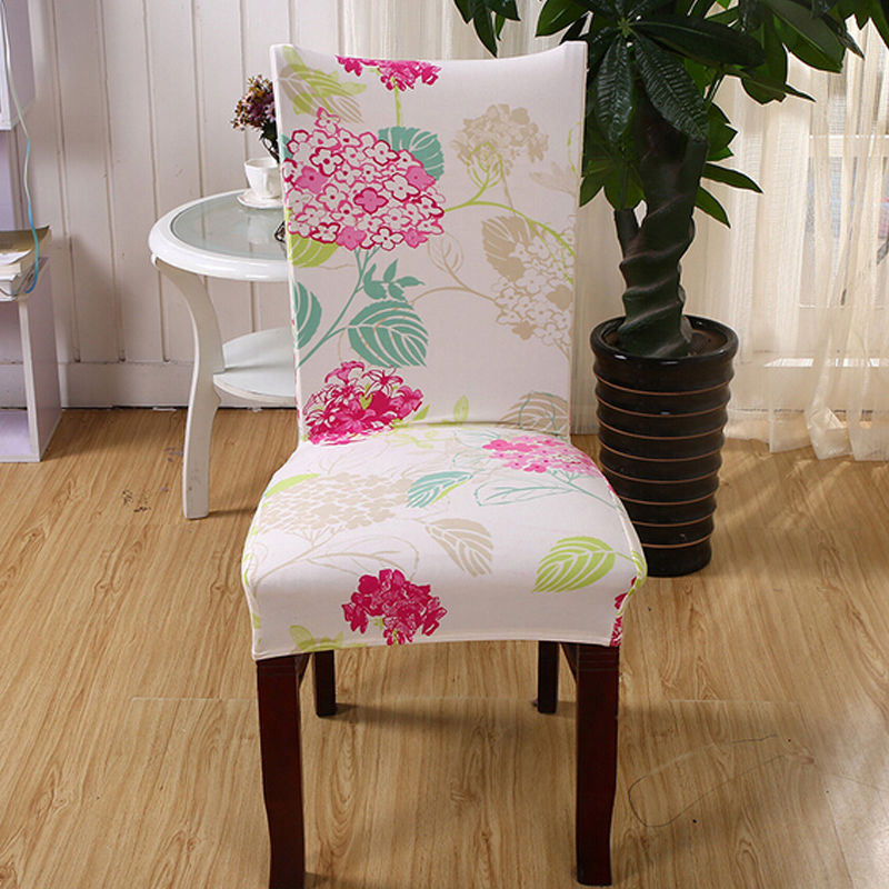2016 New Strench Fabric Chair Cover For Dining Room Wedding Banquet Hotel Washable Seat Slipcover