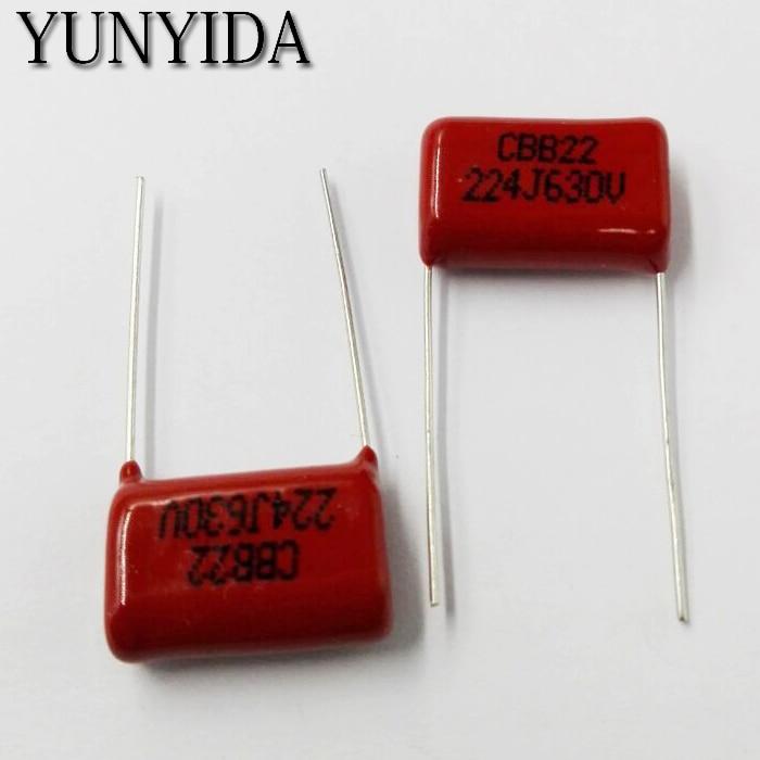 0.22uF 220nF 250V Blue Polyester Capacitors 224-20pcs
