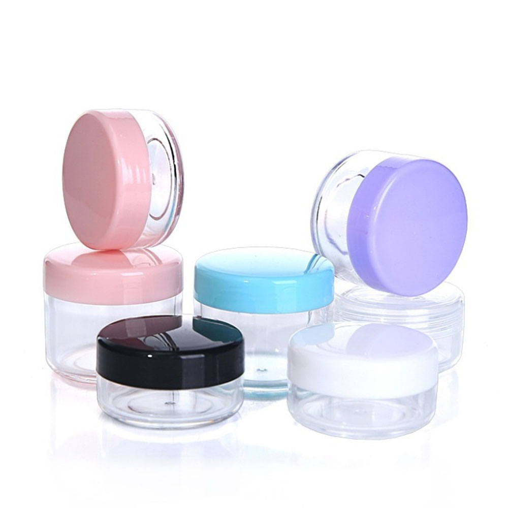 10g/15g/20g Empty Plastic Makeup Nail Art Bead Storage Container Portable Cosmetic Cream Jar Pot Box Round Bottle