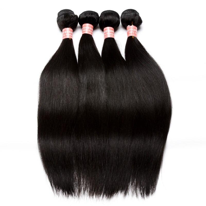 Extension De Cheveux Vierge brésilienne 3 pièces Vague Droite Faisceaux D'armure de Cheveux Humains Couleur Naturelle Cheveux Produits Prosa - 2