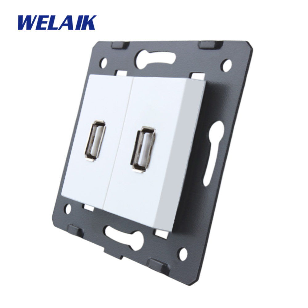 WELAIK EU  USB-Socket-DIY Parts-Without-Glass Panel-USB Charging-power Supply-Does Not-include 5V USB-power-module A82USW