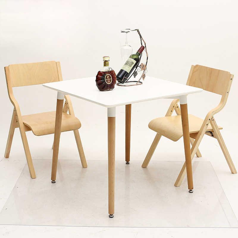 Складной простой стиль Мода Досуг Ткань Искусство бар стул для кафе твердой древесины мебель Европейский стиль столовая Моющаяся