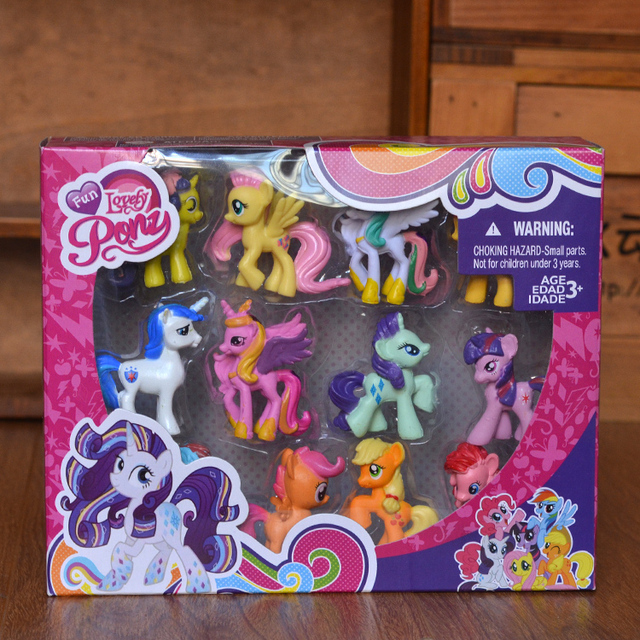 12 Stucke Lotsthe Little Horse Polly Spielzeug Geschenk Set