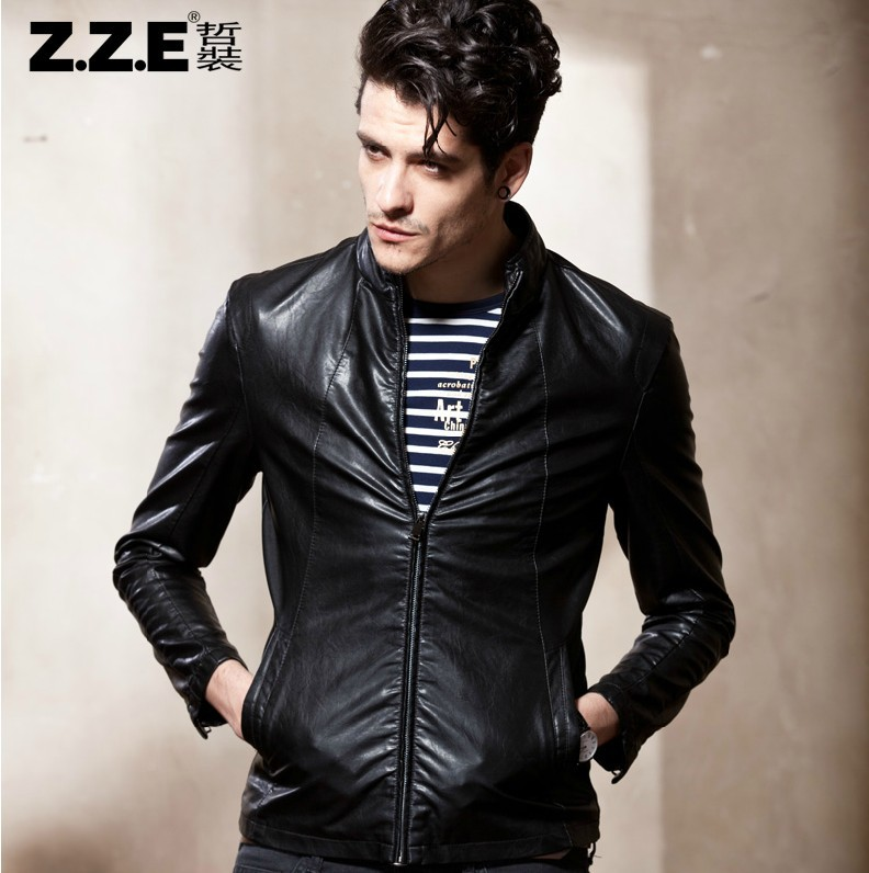 Casual Leather Jackets For Men - Coat Nj