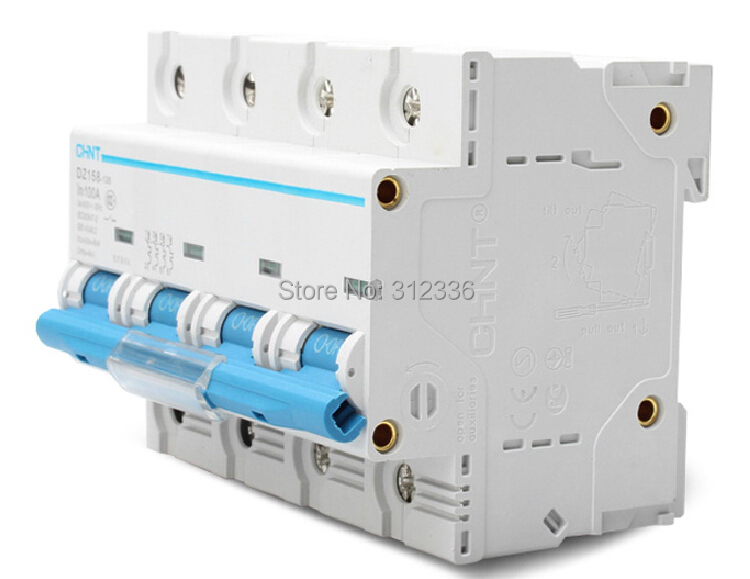 Free Shipping DZ158 4P 100A 4 Pole big power house use circuit breaker Electric shock protection domestic C type sitemap 161 xml