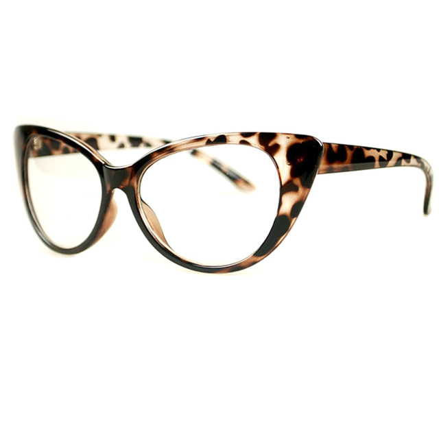 887077b3f7335 Fashion Women Cat Eye Glasses Frames Sexy Striped Retro Eyeglasses Ladies  Vintage Spectacles Frame Clear Lens Glasses Designer