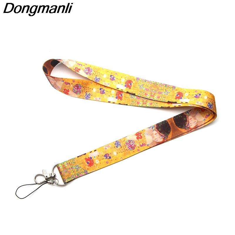 P1988 Dongmanli Gustav Klimt Lanyards For Keys ID Card Pass Gym Mobile Phone USB Badge Holder Hang Rope Lariat Lanyard
