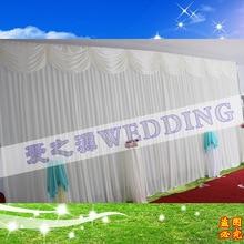 Hotsale white wedding backdrop curtain with swag ,backdrop wedding decoration,wedding stage backdrop
