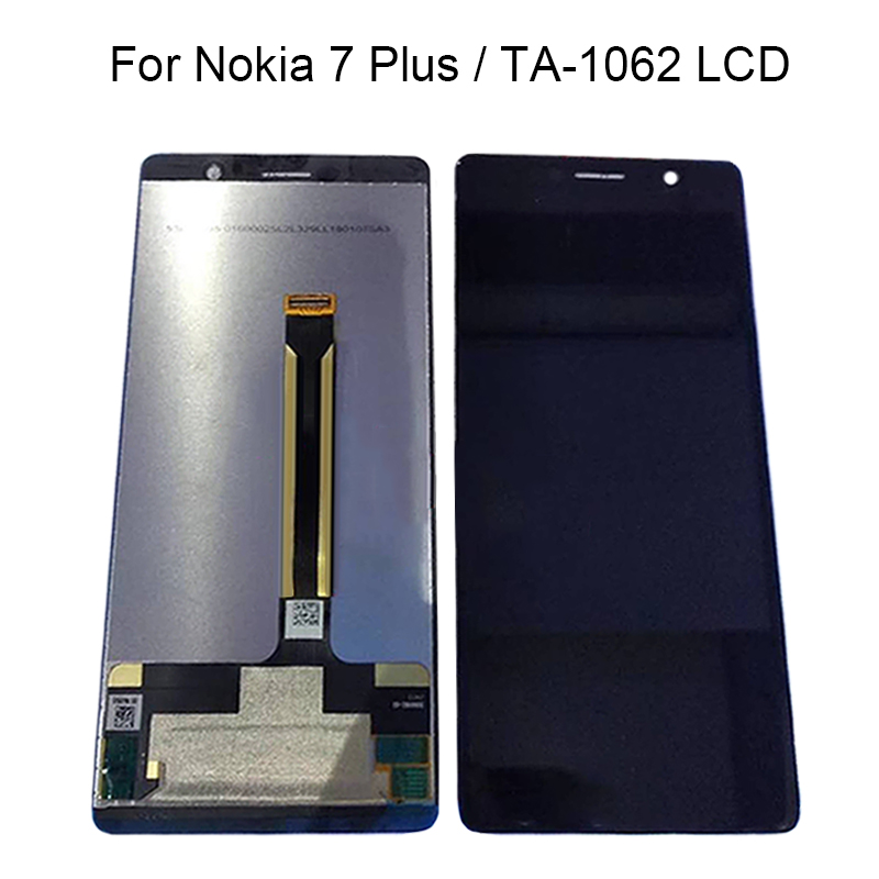 """6.0"""" LCD Display For Nokia 7 Plus TA 1062 LCD Display Touch Screen Assembly Replace 100% Tested-in Mobile Phone LCD Screens from Cellphones & Telecommunications    1"""