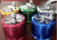 1 ADET CNC 63mm 4 Parçaları Metal Çinko Alaşım Ot Sigara Değirmenleri Şeffaf El Tütün Polen Biber Öğütücü Boru içen için