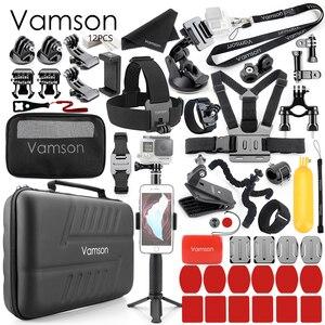 Image 1 - Vamson dla Gopro Hero 8 7 6 5 4 czarny dla Xiaomi Yi 4K Lite dla DJI OSMO kamera akcji wodoodporna obudowa torba dla SJCAM Eken VS86