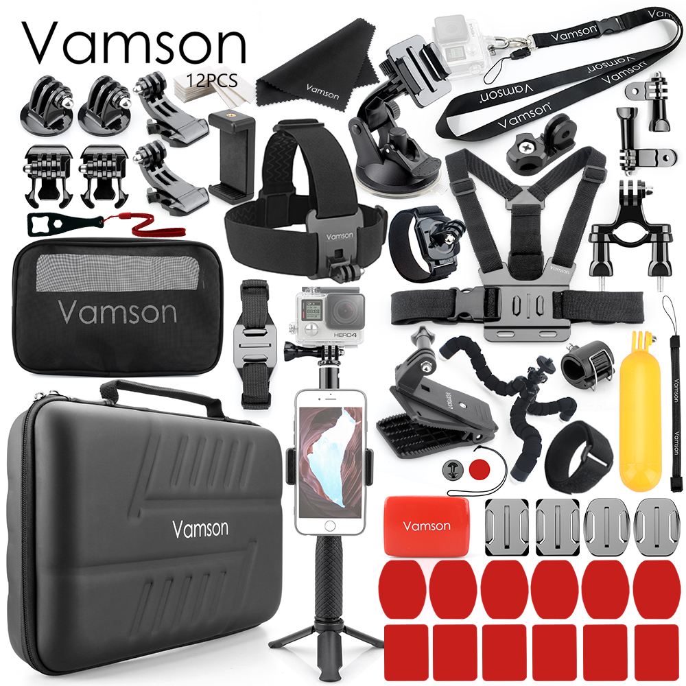 Vamson For Gopro Hero 8 7 6 5 4 Black For Xiaomi Yi 4K Lite For DJI OSMO Action Camera Waterproof Case Bag For SJCAM Eken VS86