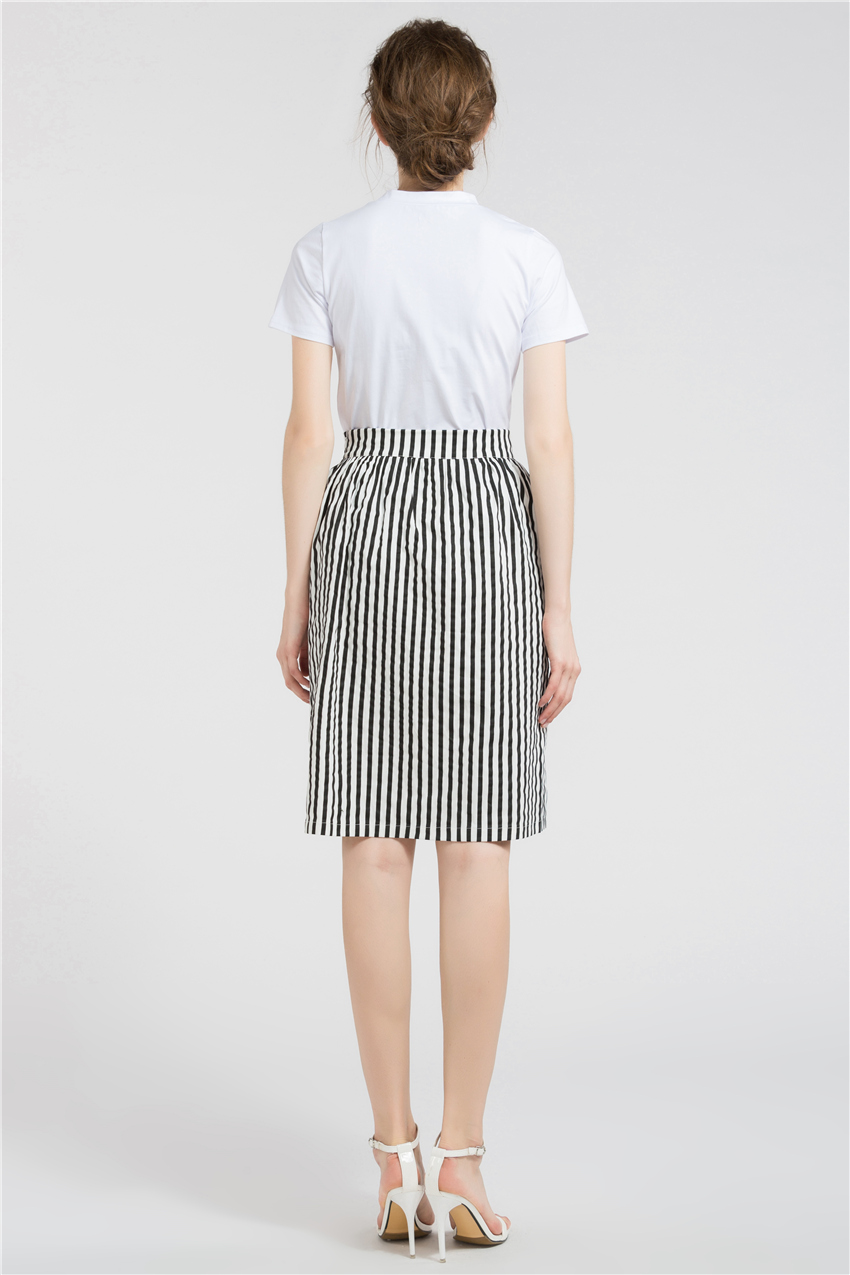 HTB15SiTRXXXXXXnXVXXq6xXFXXXg - Long Skirts Women Loose Striped Skirt  JKP008