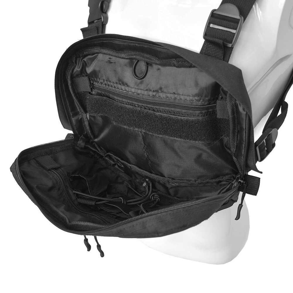 戦術アジャスタブル胸リグ胸パックリグヒップホップストリートユニセックスクール機能戦術ショルダー抗盗難バッグ