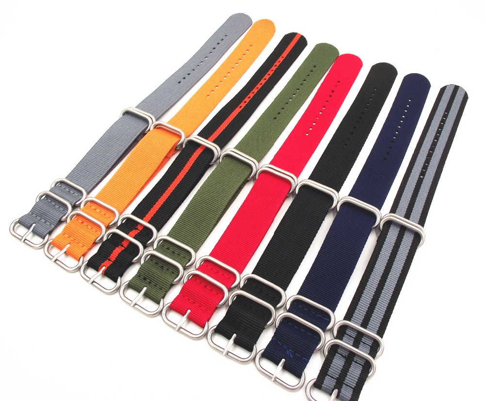 Wholesale 10PCS/lot Heavy duty nylon straps 20mm 22mm 24mm Nylon Watch band NATO strap zulu strap watch strap silver ring buckle universal air flow vent hood covers for car silver pair