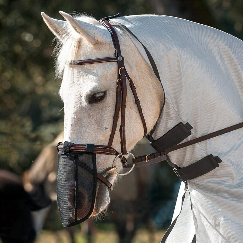 Image 2 - Pet Supplies Horse Detachable Mesh Mask With Nasal Cover Horse Fly Mask Horse Full Face Mask Anti mosquito Nose with Zipper-in Horse Care Products from Sports & Entertainment