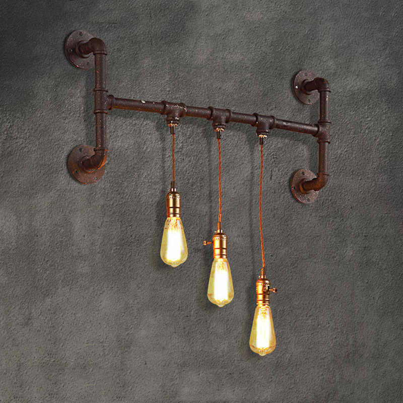 Винтажная промышленная креативная водопроводная настенная лампа для бара или кафе, ресторана, столовой, гостиной, паба, бра