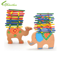 Children Educational Toys Boys Girls DIY Toys Wood Intellegence Colorful Animal Jenga Toys Free Drop Shipping Wholesale
