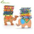 Crianças brinquedos educativos meninos meninas diy brinquedos intellegence madeira animais coloridos jenga brinquedos frete grátis por atacado gota