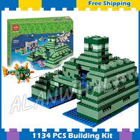 1134pcs My World The Ocean Monument Water Sponge Guardian 10734 Model Building Blocks Toy Brick Compatible with Lego Minecrafted