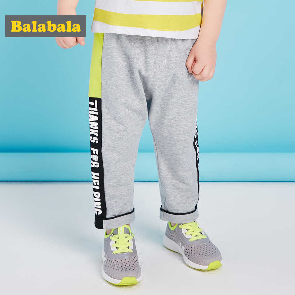 Balabala 2018 hot sale children harem pants for baby boys trousers kids child casual pants candy solid colors cotton costume