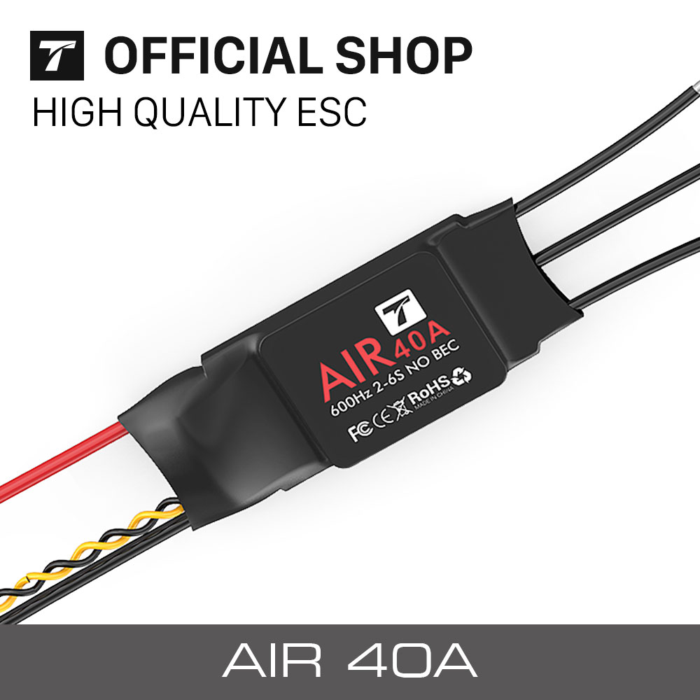 T-MOTOR ESC Air 40A (2-6S 600HZ NO BEC) Brushless Motor Electronic Speed Controller for Multicopter lhm005 30a brushless motor speed controller control rc bec esc for t rex 450 helicopter
