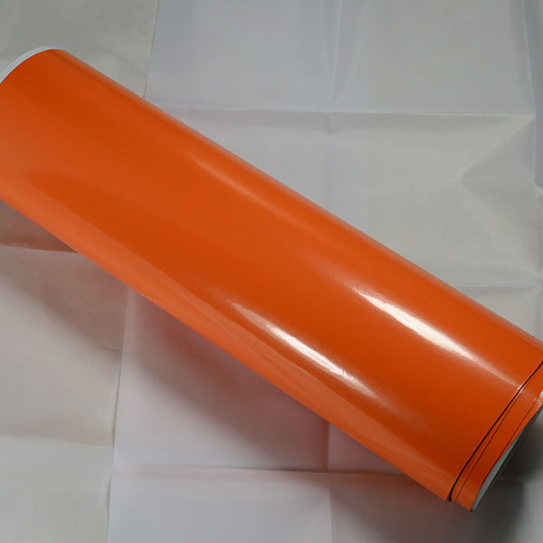 2015 Newest RHOS China Dream 1.52X15m Best Choice For One Car Air Free Bubbles Orange Vinyl Glossy Car Wrap Sticker