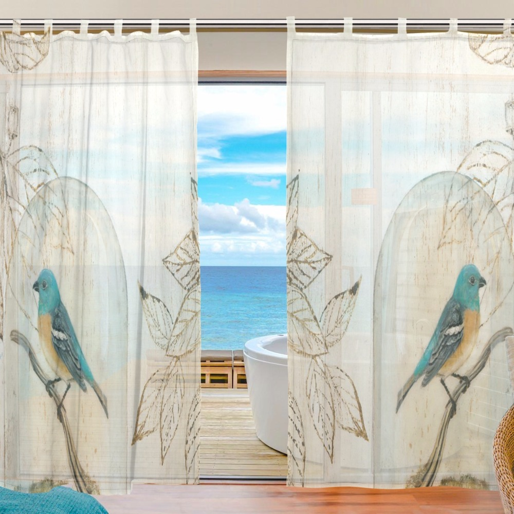 Bird curtain panels - Bird Curtains Tree Voile Curtains Bedroom Sheer Curtains For Living Room Tulle Curtains Panels Window