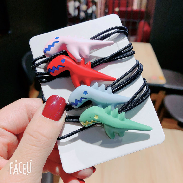 Forceful Scrub Dinosaur Hair Ring Animal Hair Rope Wild Ball Head Rope Tie Head Hair Band Accessories G0328 Orders Are Welcome. Beauty & Health Hair Care & Styling