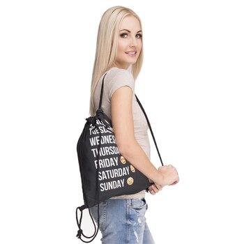 Fresh Style Drawstring Backpack Men's Bags Print Expression Backpack Summer Beach Ladies' Drawstring Backpack Children's Bag 3