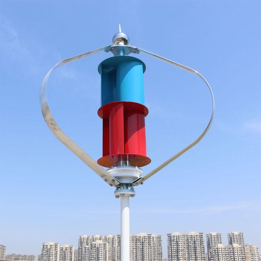 Recommande 200 w axe vertical éolienne 1.3 m démarrage maglev générateur d'emballage avec MPPT 12 v 24vauto commutateur régulateur