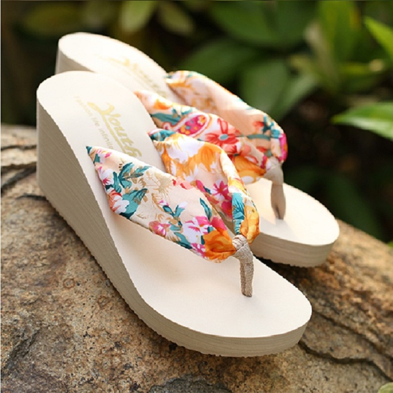 QWEDF Summer <font><b>Women</b></font> <font><b>Slippers</b></font> Platform <font><b>Wedge</b></font> <font><b>Shoes</b></font> <font><b>Sexy</b></font> <font><b>High</b></font> <font><b>Heel</b></font> Sandals Leopard Flip Flops Female Slides Beach <font><b>Shoes</b></font> MJ-124 image