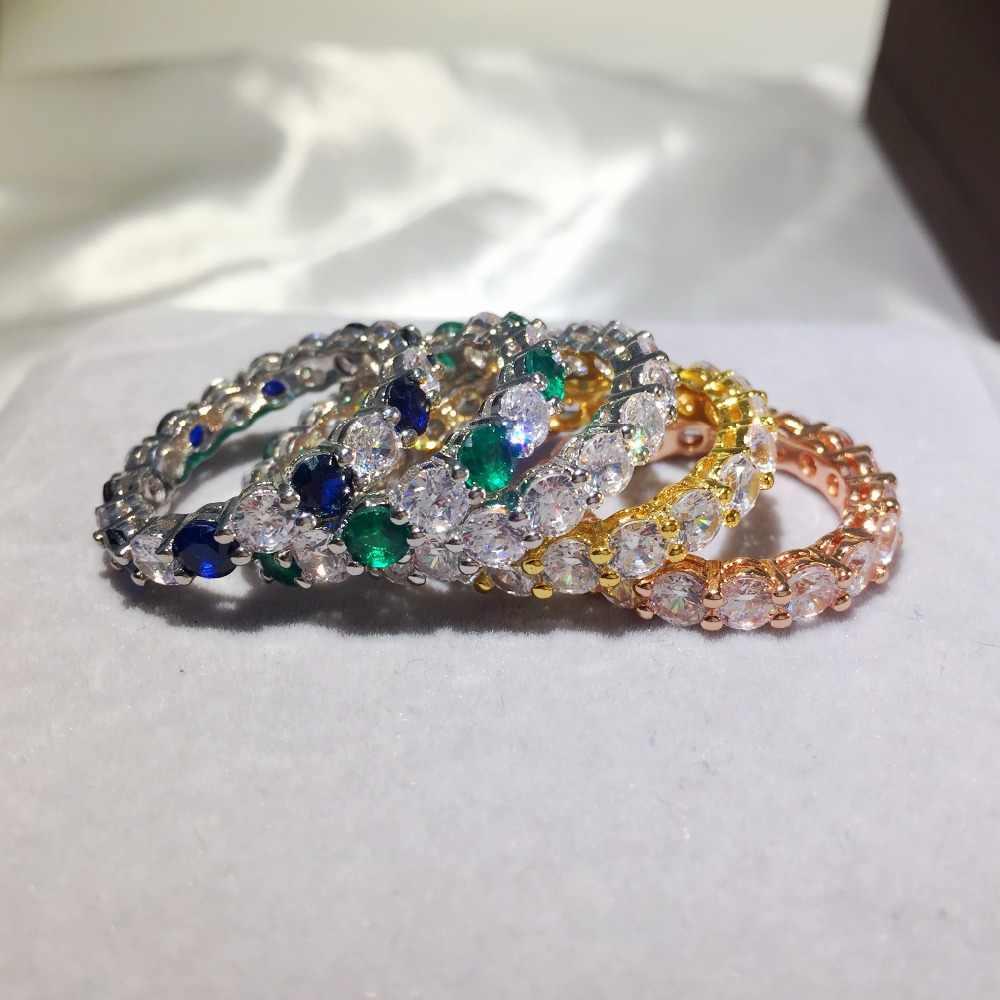 Cinque stili di Marca di 925 Anelli In Argento Sterling pieno 4 millimetri 1 Carat Sona Diamante di Fidanzamento fascia di Cerimonia Nuziale Anello per Le Donne degli uomini Dei Monili
