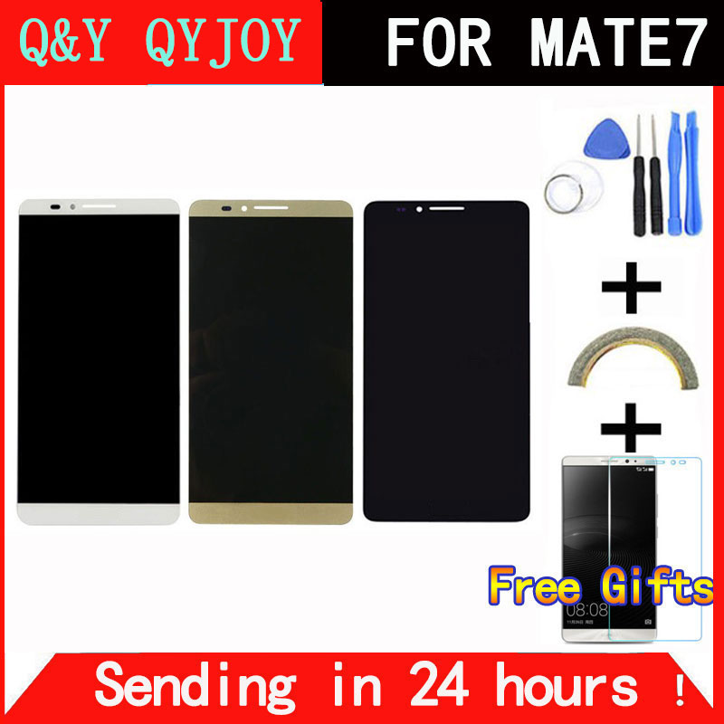 Q Y QYJOY Brand New LCD Display Digitizer Touch Screen Glass Assembly For Huawei Mate7 Mate