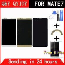 Q & Y qyjoy Фирменная Новинка ЖК-дисплей Дисплей + дигитайзер Сенсорный экран Стекло сборки для Huawei Коврики 7 Коврики 7 телефон 6.0 «с Рамка